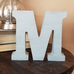 "Other - Blue wood letter ""M"""